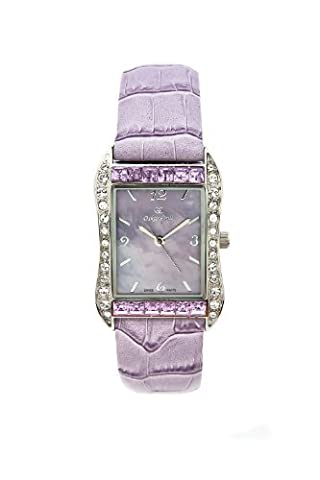 Oskar-Emil Rochelle Lilac Ladies Watch with Mother of Pearl Dial,
