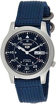 Seiko 5 Military Men's Blue Dial Nylon Band Automatic Watch - SNK8