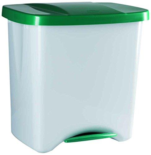 Denox Cubo Basura ecológico, Verde y Gris Claro, Centimeters, 50