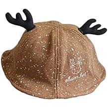 Hosaire 1x Invierno Niño Niña Sombreros Hecho Lindo del bebé Navidad  Cornamenta diseño Algodón Gorra de 2d632fbe7d1
