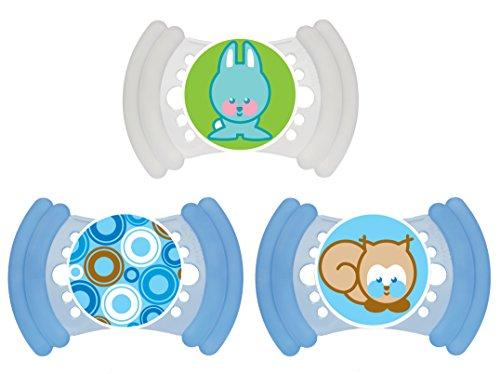 MAM Schnuller Soft Silikon 6-16 Monate 3er Packung für Jungen
