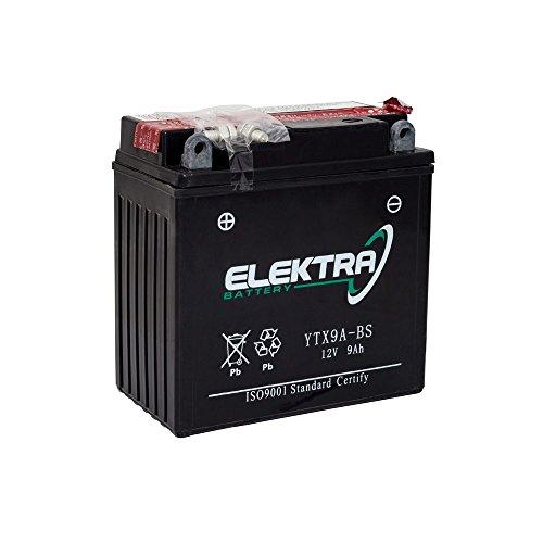 Batterie/Rollerbatterie Elektra Typ YTX9A-BS 12V 9Ah
