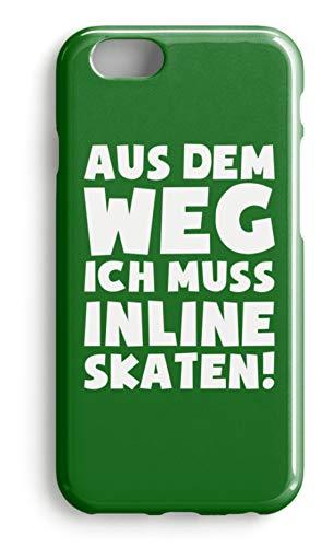 shirt-o-magic Handyhülle Inline Skates: Muss Inline skaten! - Case -iPhone 6s-Kelly Green -