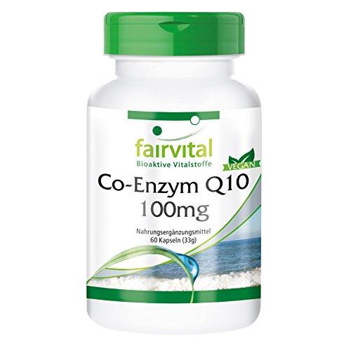 Co-Enzym Q10 100mg (Ubichinon), hochdosiert, vegan, natürlich, 60 Q10-Kapseln - Vitalität für Herz und Gefäße, Energie, Zellschutz, Immunsystem