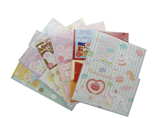 Sanrio Charakter Buchstabe 2-Set (Hello kitty-cinnanmoroll-gudetama-little Twin star-my Melodie)-1- und 2 Pro Bestellung hergestellt zufällig ausgewählt. Made in Japan (Set Twin Star)