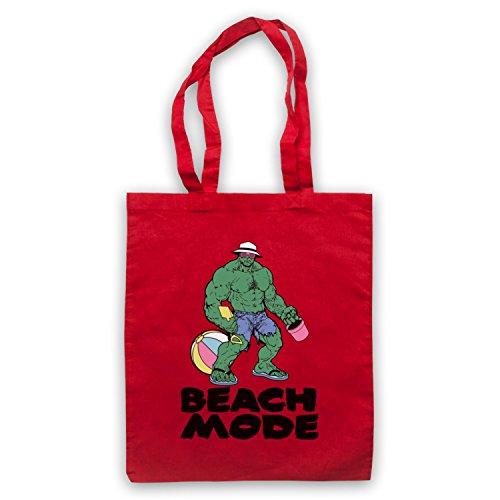 Beach Mode Gym Workout Slogan Umhangetaschen Rot
