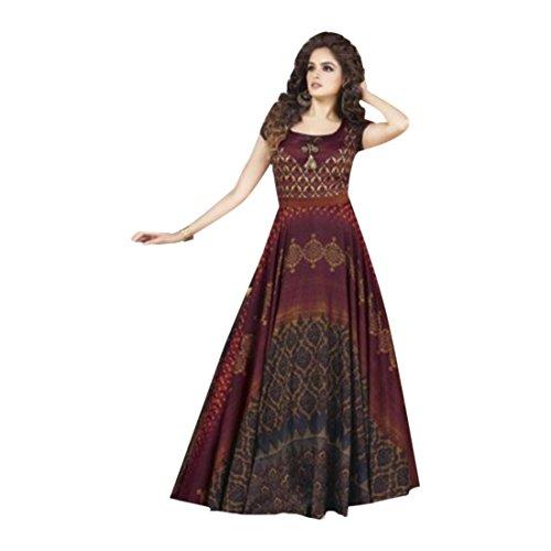 ETHNIC EMPORIUM Ready to Wear Langes Kleid Muslimischen Anarkali Salwar Kameez Indian Neue...