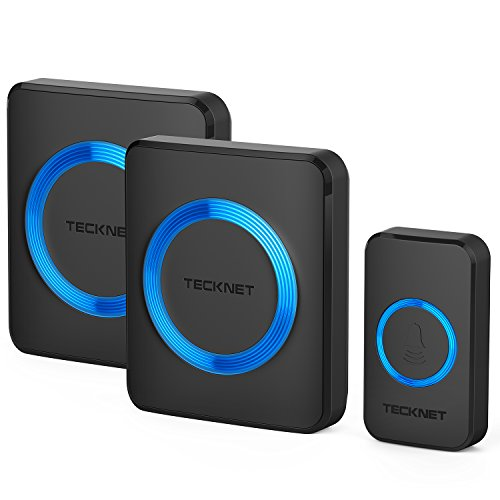 tecknet-premium-twin-mains-plug-in-wireless-cordless-doorbell-door-chime-at-500-feet-range-with-52-c