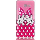 Coque Pour Samsung Galaxy A5 (2016) A510,Remidy Bow pink Souple TPU Gel Silione Protection Téléphone Housse Étui Pour Samsung Galaxy A5 (2016) A510