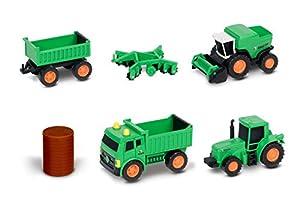 Nikko 9907 - Vehículos de Granja, Color Verde y Naranja