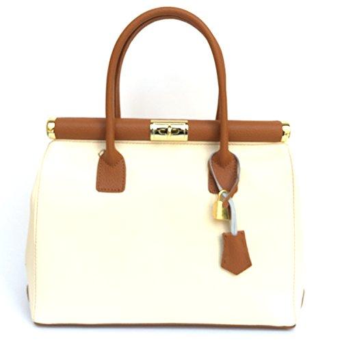 Superflybags Damentasche Modell Alina Classic (Handköfferchen-Handtasche) Echtes Leder Made In Italy -
