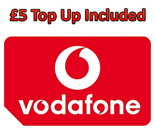 Vodafone Pay-As You Go Triple Cut SIM-Karte (Standard, Micro & Nano-Größe) mit £5 Gutschrift vorgeladen Pay As You Go-handys