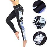 Pantaloni da donna con cuciture yoga pantaloni leggings Leggings per Fitness Sports Gym Running Yoga atletica sportivi-Allenamento Opaco fitness -Sport Allenamento Leggings(nero,M)