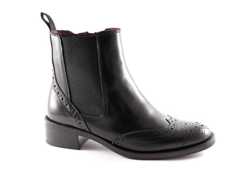 FRAU 97M6 nero scarpe donna stivaletti tronchetti zip beatles pelle