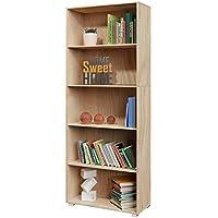 Étagère Bibliothèque chêne 190 cm Meuble de Rangement »Vela« 5 Compartiments