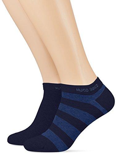 BOSS Herren Socken 2P AS Block Stripecc, 2er Pack, Blau (Dark Blue 401), 43/46