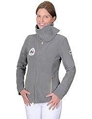 """'Chaqueta de forro polar mujer """"Cathleen//kuscheliger XL de cuello, color plata, tamaño 38"""