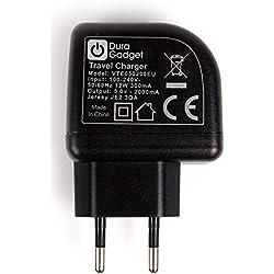 DURAGADGET Chargeur Secteur 2X USB pour Philips BT50, Anker Soundcore Boost and Zenbre F3 Enceinte Portable - (Charge Rapide 2 Amp)