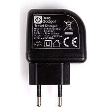 DURAGADGET Cargador Con Enchufe Europeo Para Altavoz Portátil Trust Urban Dixxo / VQ Retro Mini DAB Radio / VTIN V0122-e / ZEALOT S2 / ZENBRE D4 - Con Doble Entrada USB