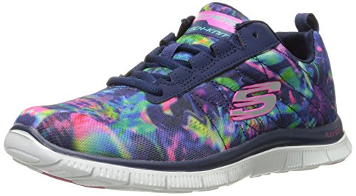 Skechers (SKEES) Damen Flex Appeal-Cosmic Rays Funktionsschuh blau (NVMT)