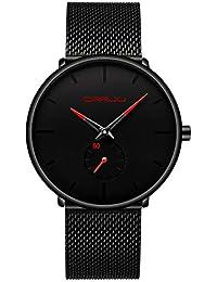 6e5a9548b740 Reloj Para Hombre Original Peugeot Cuarzo Analógico Con malla Negra Correa  De Acero Inoxidable Reloj Ultra Delgado Impermeable En Cara Negra…