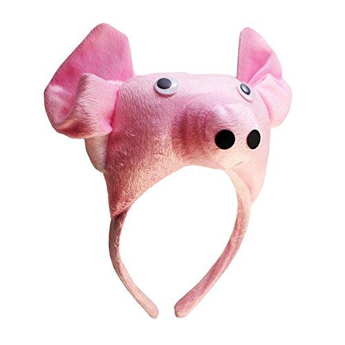 BestOfferBuy 3D Schwein Kopfband Tier Bauernhof Erwachsene Kinder Maske Kostüm Maskenball