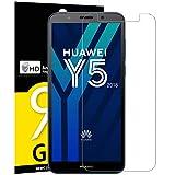 NEW'C Verre Trempé pour Huawei Y5 2018 / Honor 7S, Film Protection écran - Anti Rayures - sans Bulles d'air -Ultra Résistant (0,33mm HD Ultra Transparent) Dureté 9H Glass