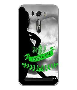 Fuson Designer Back Case Cover for Asus Zenfone Selfie ZD551KL (Girl Clipart Black Sky Cloud Woman Lady Young)