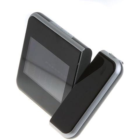 SODIAL(R) Proyeccion del Tiempo Digital de Multi-Funcion Alarma de reloj