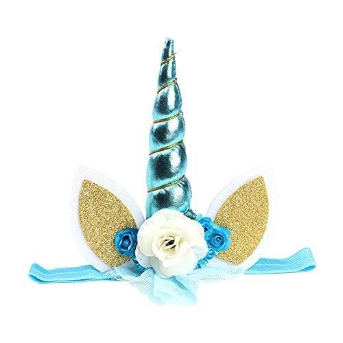band, Sunbeter Birthday Party Kopfschmuck Glitter Party Haarschmuck Cosplay Kostüm Stirnband für Kinder und Baby - Kindertag Geschenk (blau) (Ich-partei-halloween-kostüme)