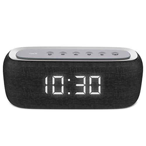 HAVIT Wireless Bluetooth Lautsprecher, 10W Dual-Treiber Bass, 500 Songs Spielzeit mit FM Radio Wecker, TF Karte/AUX-in/Bluetooth 4.2, Eingebautes Mikrofon für iPhone,Samsung,Android M29 (Schwarz)