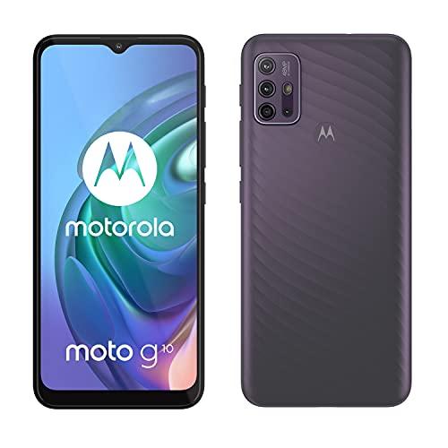 """Oferta de Motorola Moto g10 (Pantalla de 6.5"""" Max Vision HD+, Qualcomm Snapdragon, sistema de 4 cámaras de 48MP, batería de 5000 mAH, Dual SIM, 4/64GB, Android 11), Gris [Versión ES/PT]"""