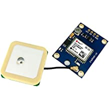 NEO-6M GY-GPS6MV2 GPS Modulo - SODIAL(R) Ublox NEO - 6M GPS Modulo Controlador de Vuelo de Aeronaves para Arduino IMU SE04001 G21 (Azul)