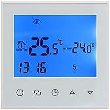 Wifi termostato inteligente controlador digital programable inalambrico por smartphone APP / o pantalla tactil 16A programador semanal