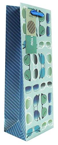 Herren Blau Weinflaschenhalter Geschenk Tüte Geschenkpapier Geschenk Verpackung Shades