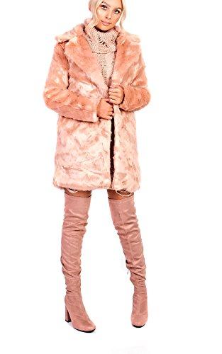 Ikrush Women's Sophia Faux Fur Jacket Size in PINK Size 10