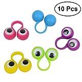 TOYMYTOY Anelli con occhi mobile in silicone per giocattoli e regali di bambini 10PCS