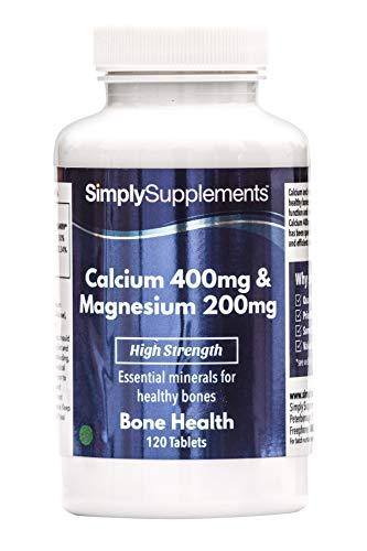 Calcio 400 mg y Magnesio 200 mg - 120 comprimidos - 2 meses d