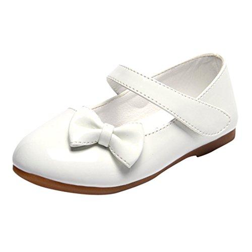 Lopetve Zapatos para niña Zapatillas Sandalias Merceditas Mary Janes Chicas Tamaño Blanco 26