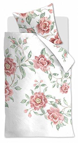 Beddinghouse Bettwäsche Rosette rosa 1 Bettbezug 135x200 cm + 1 Kissenbezug 80x80 cm -