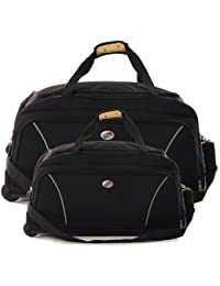 American Tourister VISION DUFFLE Black Trolley Bag Duffle With Wheels Combo Set Of 2 Sizes
