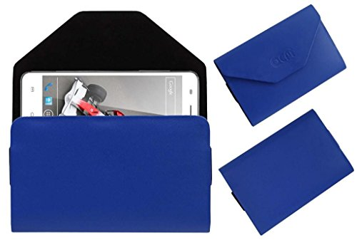 Acm Premium Pouch Case For Xolo Q3000 Flip Flap Cover Holder Blue  available at amazon for Rs.179