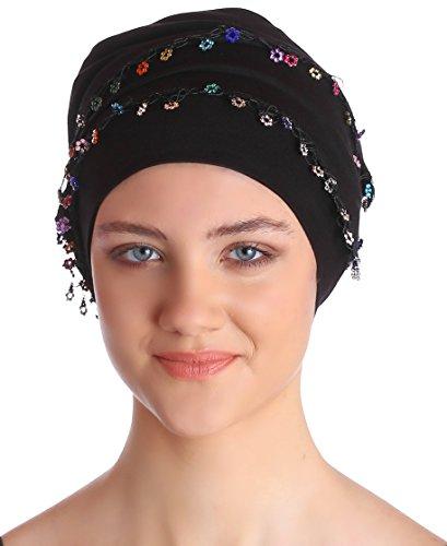 Deresina Headwear Kein Binder Bandana für Damen - Schwarz