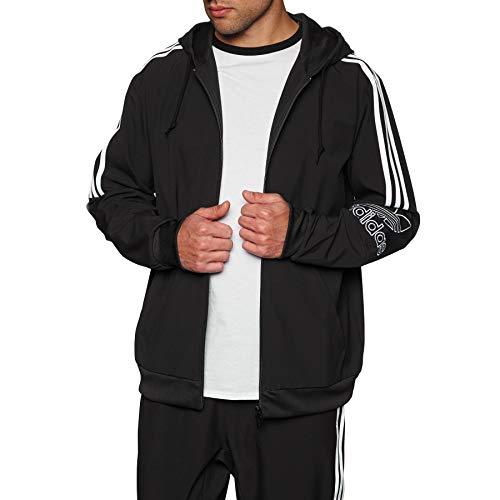 adidas Originals Outline Fz Hood Zip Hoody Large Black Fantasy-zip Hoodie