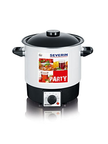 Severin EA 3657 Party-Kochautomat, 9 Liter, weiß-schwarz