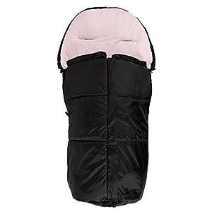 Kaiser Vario-Saco de dormir para bebé de verano, color negro y rosa