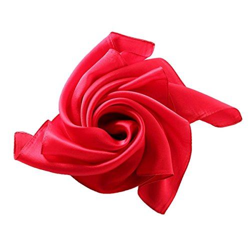 Sciarpa Quadrata 100% seta Colore Puro 52*52 cm Multicolore rosso