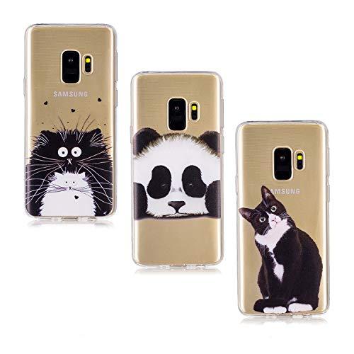 V-Ted kompatibel mit Samsung Galaxy S8 Hülle Case Transparent mit Muster Katze Panda Chinchilla Ultra Dünn Durchsichtig Silikon Gummi Bumper Etui Schutzhülle Tasche Folie Handyhülle (Chinchilla Tasche)