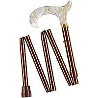 Cavip 5602 - Baston plegable regulable mini, color marron