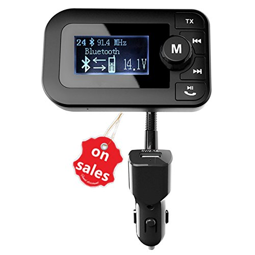 Auto 6 Radio Bluetooth Zoll (FM Transmitter–Bluetooth Musik Empfänger Wireless Audio Radio Adapter 6in 1Auto Aufladegerät Kit: Hände frei Freisprecheinrichtung, Dual USB), GPS Nav Audio-USB/SD MP3player-2.0